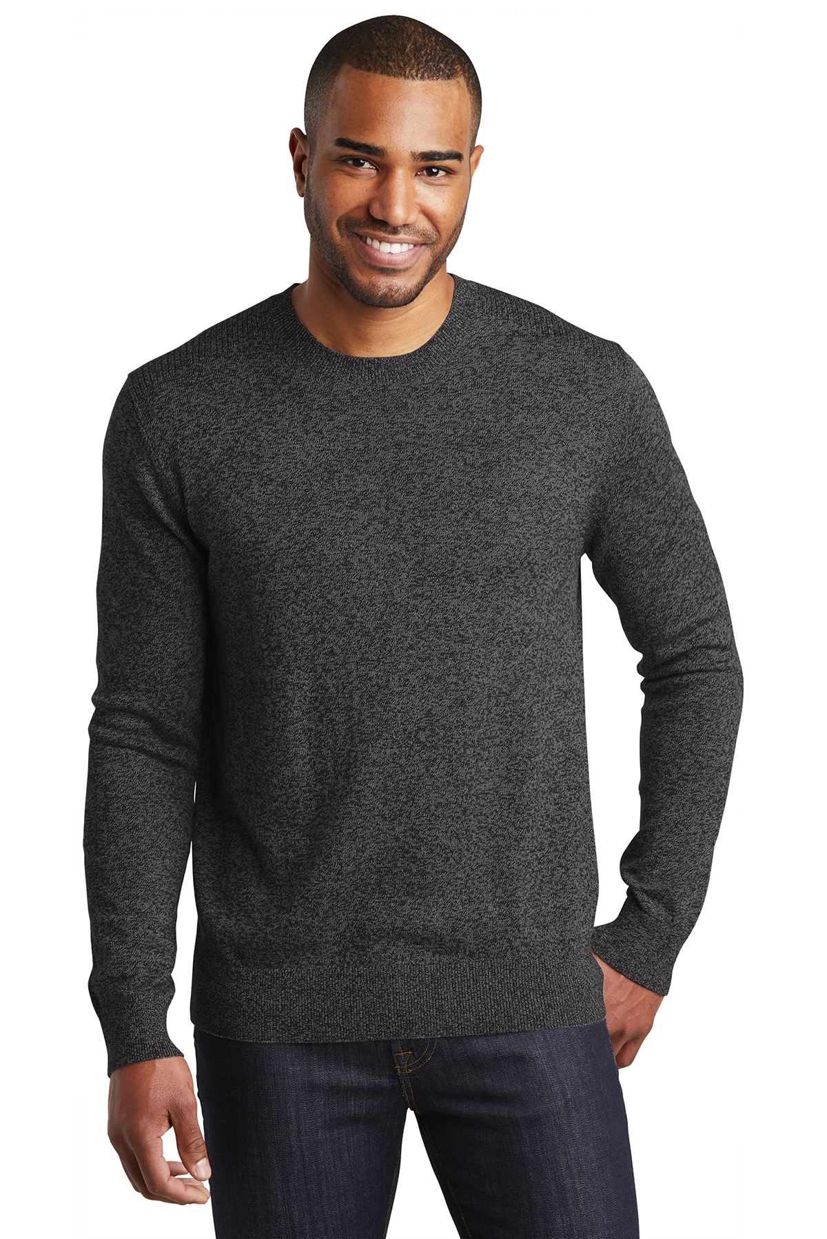 Port Authority SW417 - Men's Marled Crew Sweater
