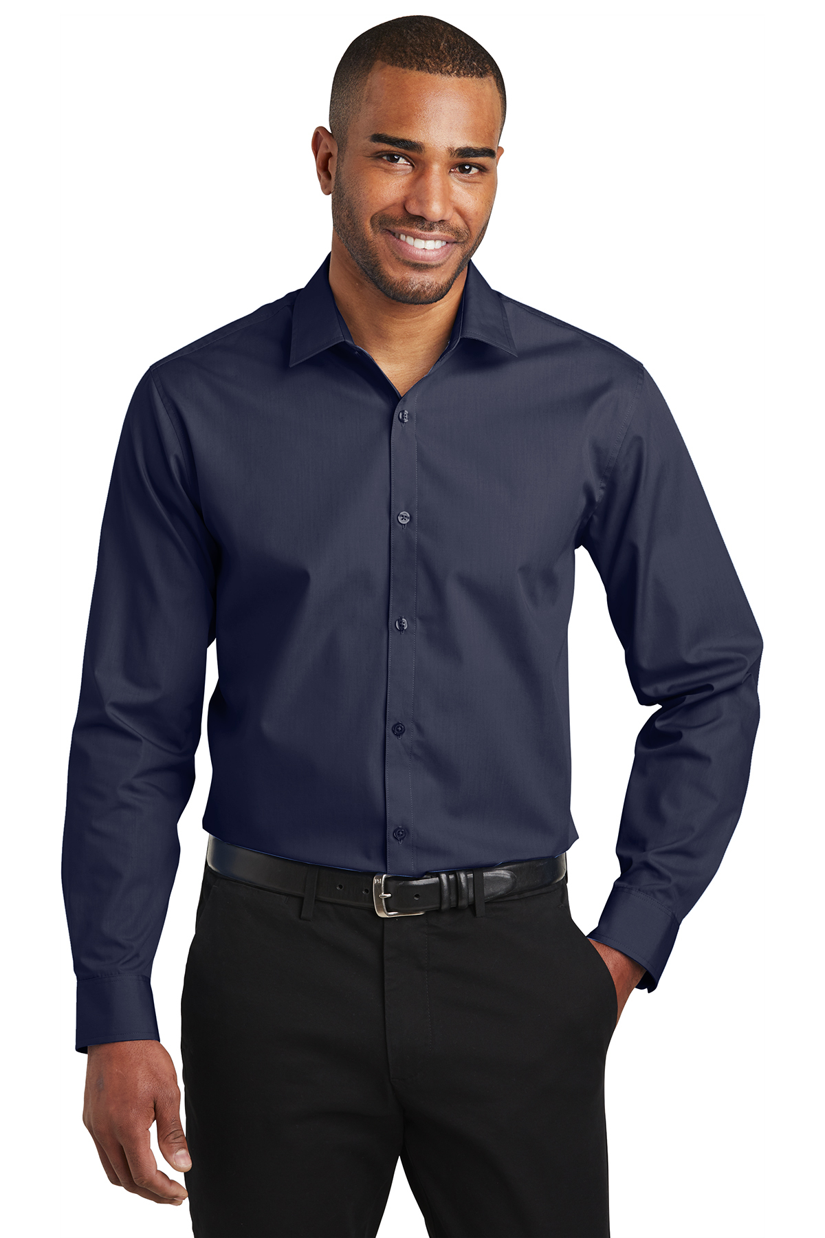 Port Authority W103 - Men's Slim Fit Carefree Poplin Shirt