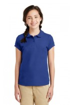 Port Authority® YG503 - Girls Silk Touch® Peter Pan Collar Polo