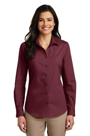Port Authority LW100 - Ladies Long Sleeve Carefree Poplin ...