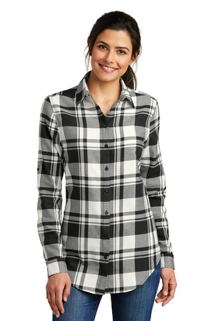 Port Authority LW668 - Ladies Plaid Flannel Tunic