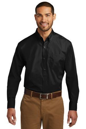 Port Authority TW100 - Men's Tall Long Sleeve Carefree Poplin Shirt