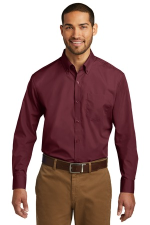 Port Authority W100 - Men's Long Sleeve Carefree Poplin ...