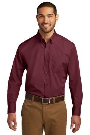 Port Authority W100 - Men's Long Sleeve Carefree Poplin Shirt