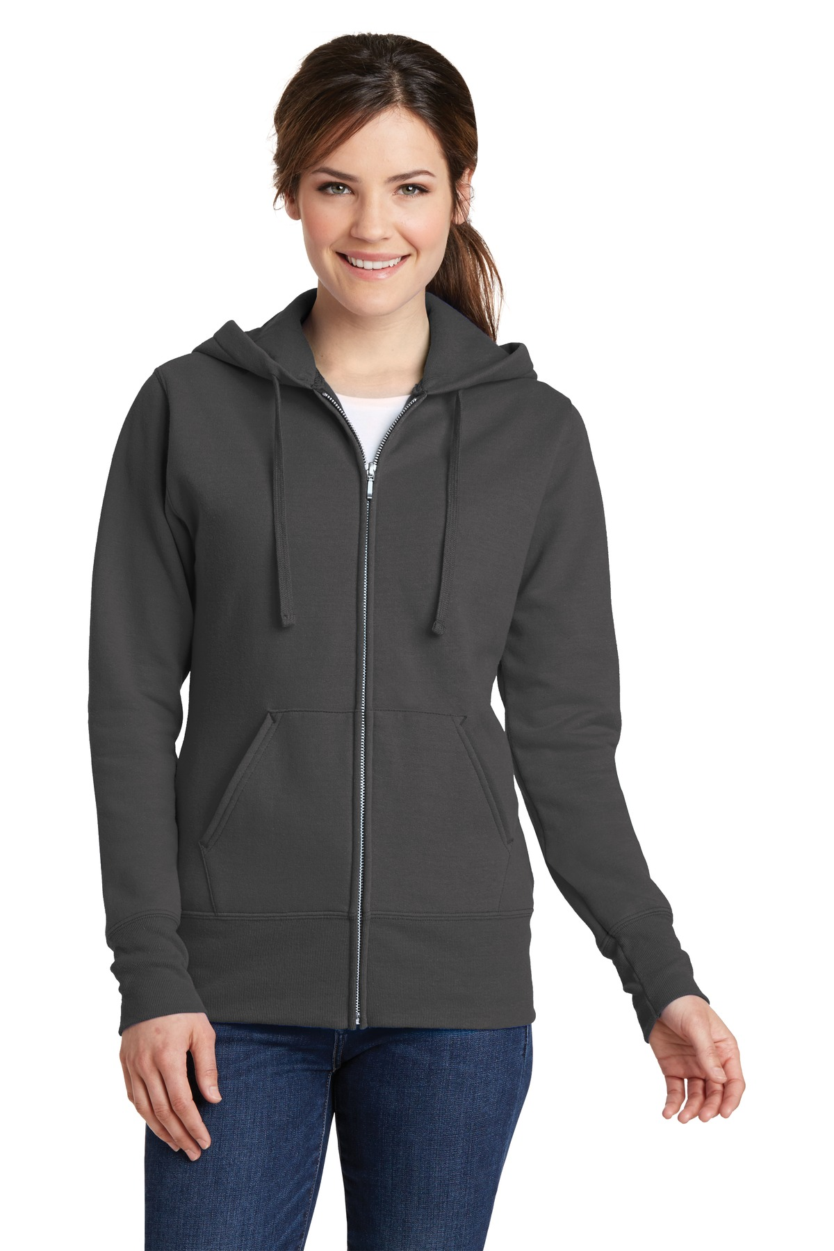 Port & Company  LPC78ZH - Ladies Classic Full-Zip Hooded ...