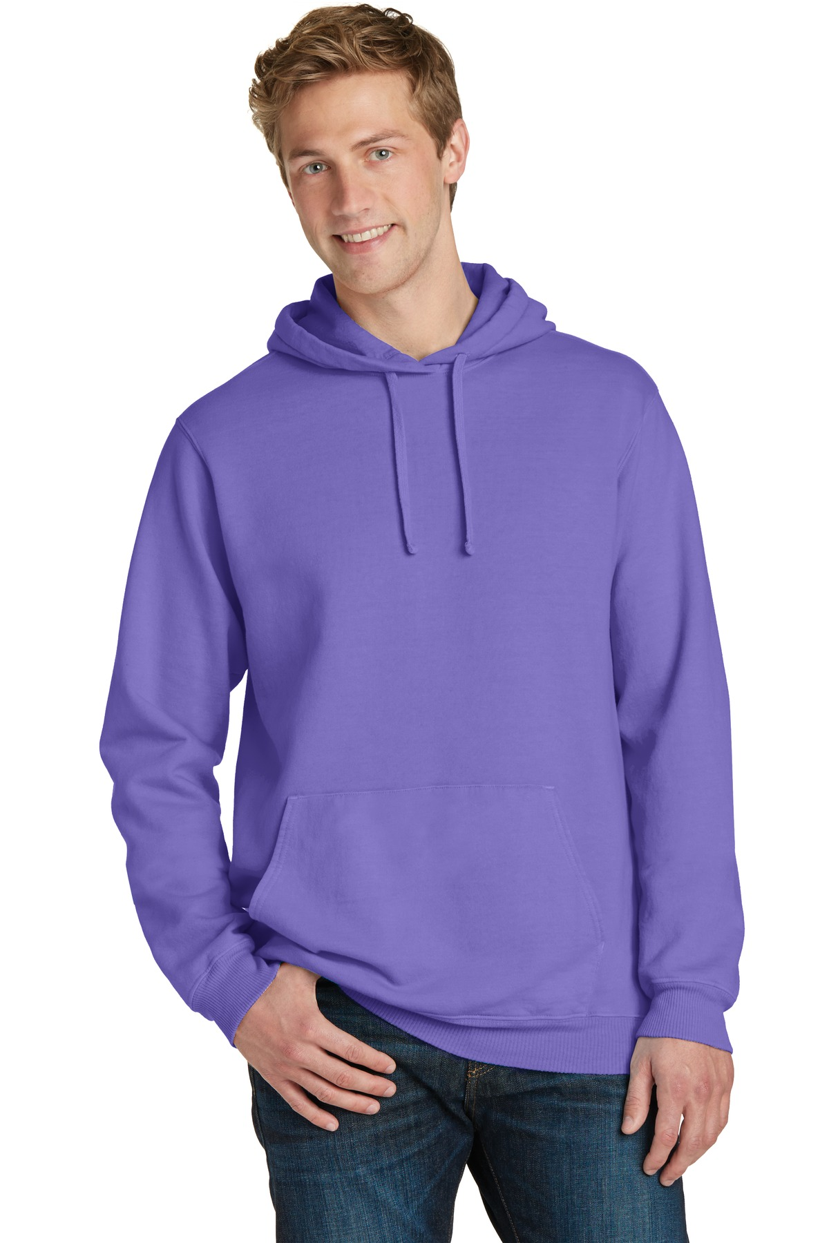 Port & Company  PC098H - Essential Pigment-Dyed Pullover ...