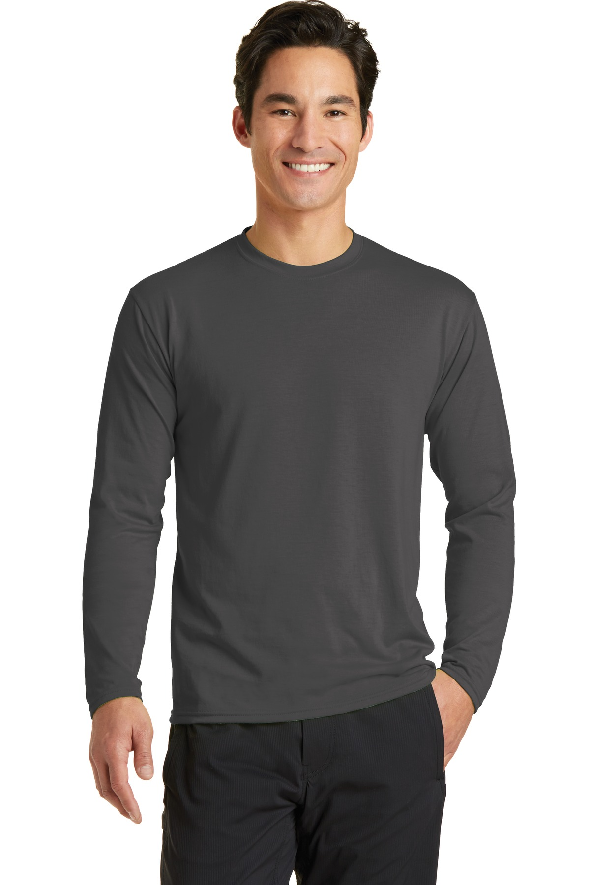 Port & Company  PC381LS - Long Sleeve Essential Blended ...