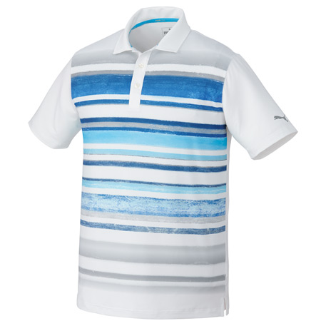 PUMA PA16815 - Men's Washed Stripe Polo Shirt