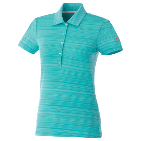 PUMA PA96806 - Women's Golf Barcode Stripe Polo