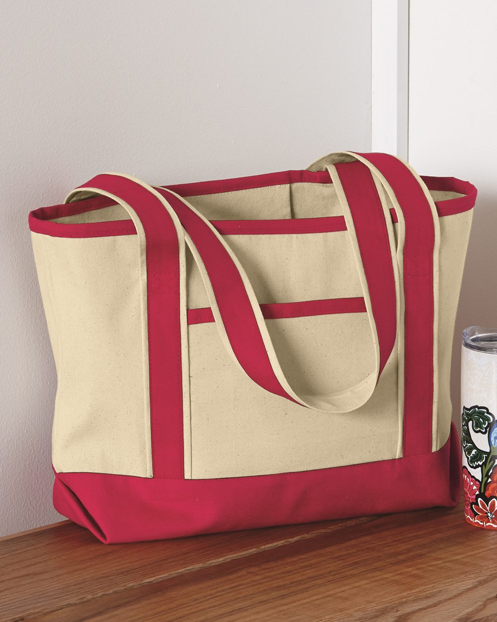 Q-Tees Q125800 - 20L Small Canvas Deluxe Tote