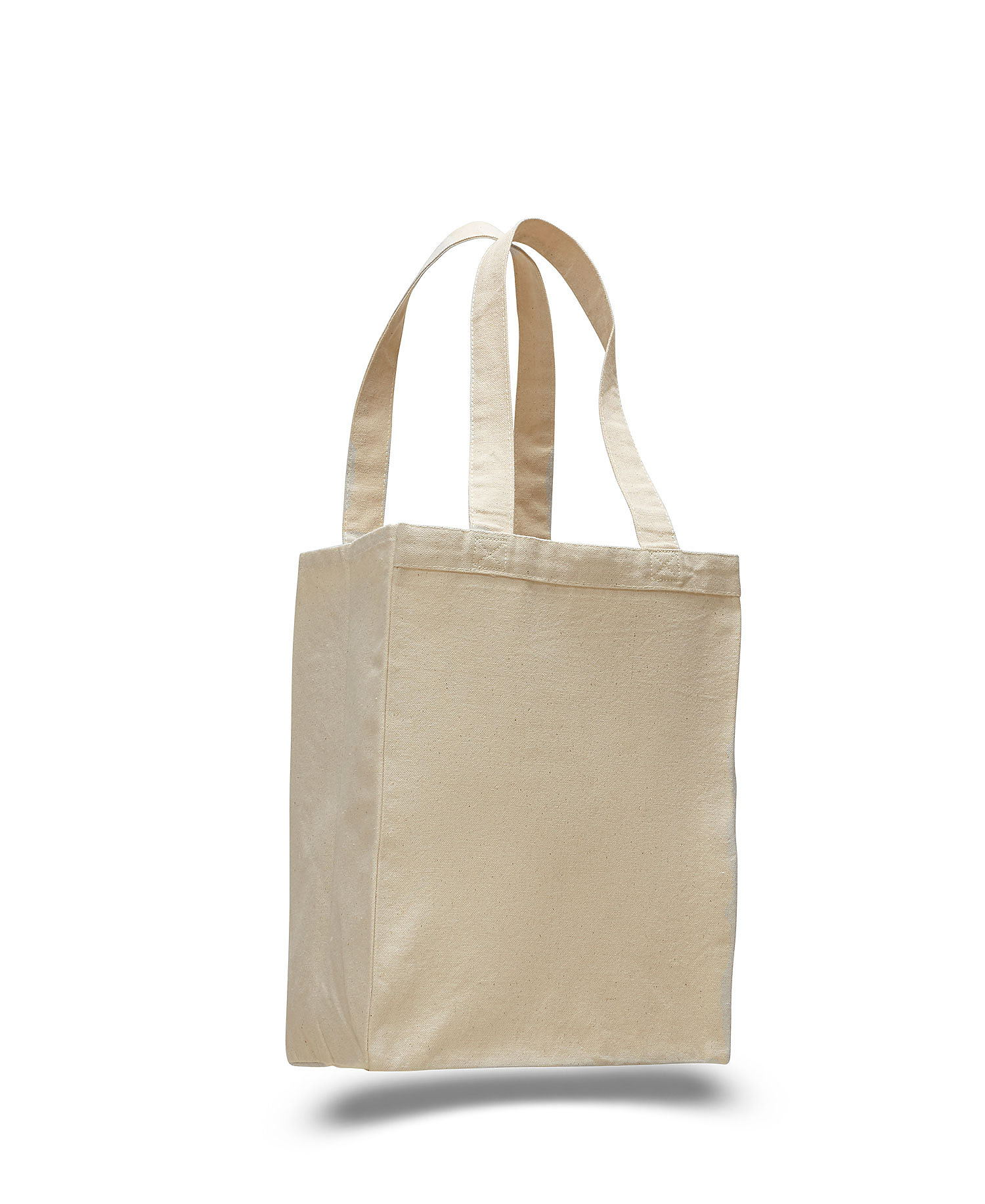 Q-Tees Q1000 - 12L Canvas Gusset Shopping Tote