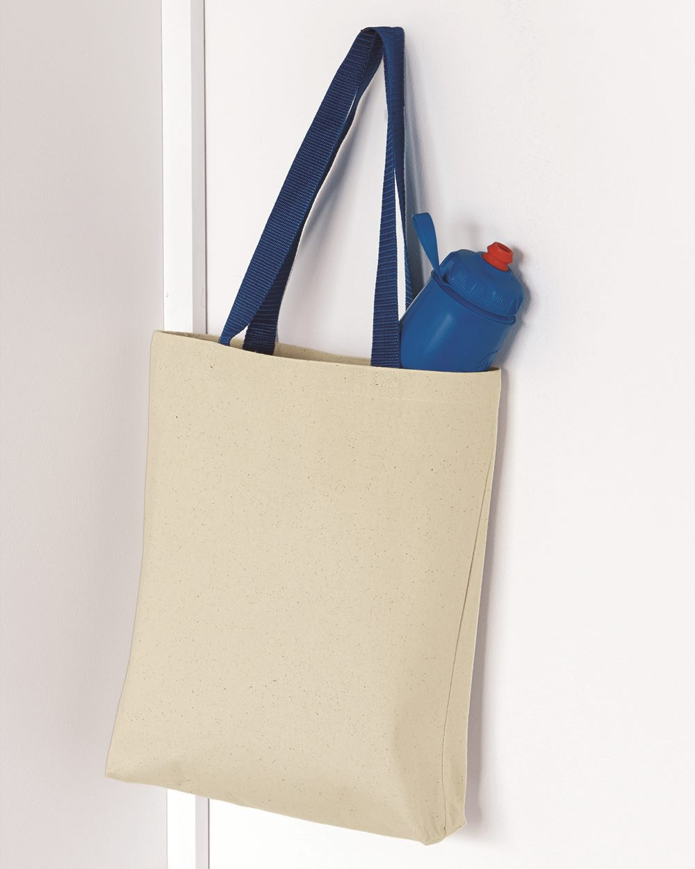 Q-Tees Q4400 - 11L Canvas Tote With Color Handles