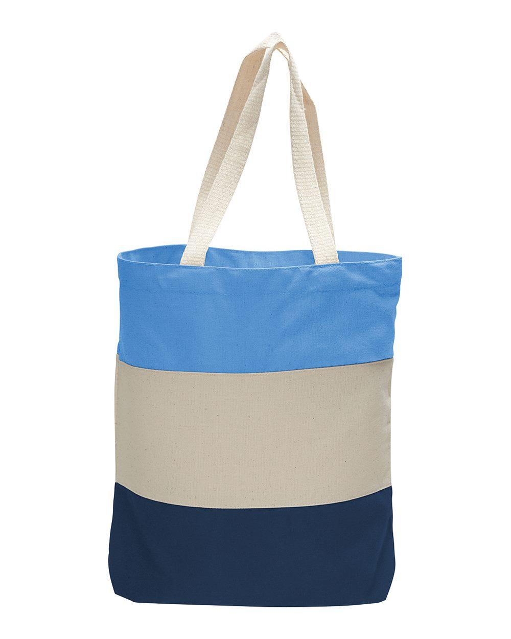 Q-Tees Q125900 - Canvas Tri-Color Tote Bag