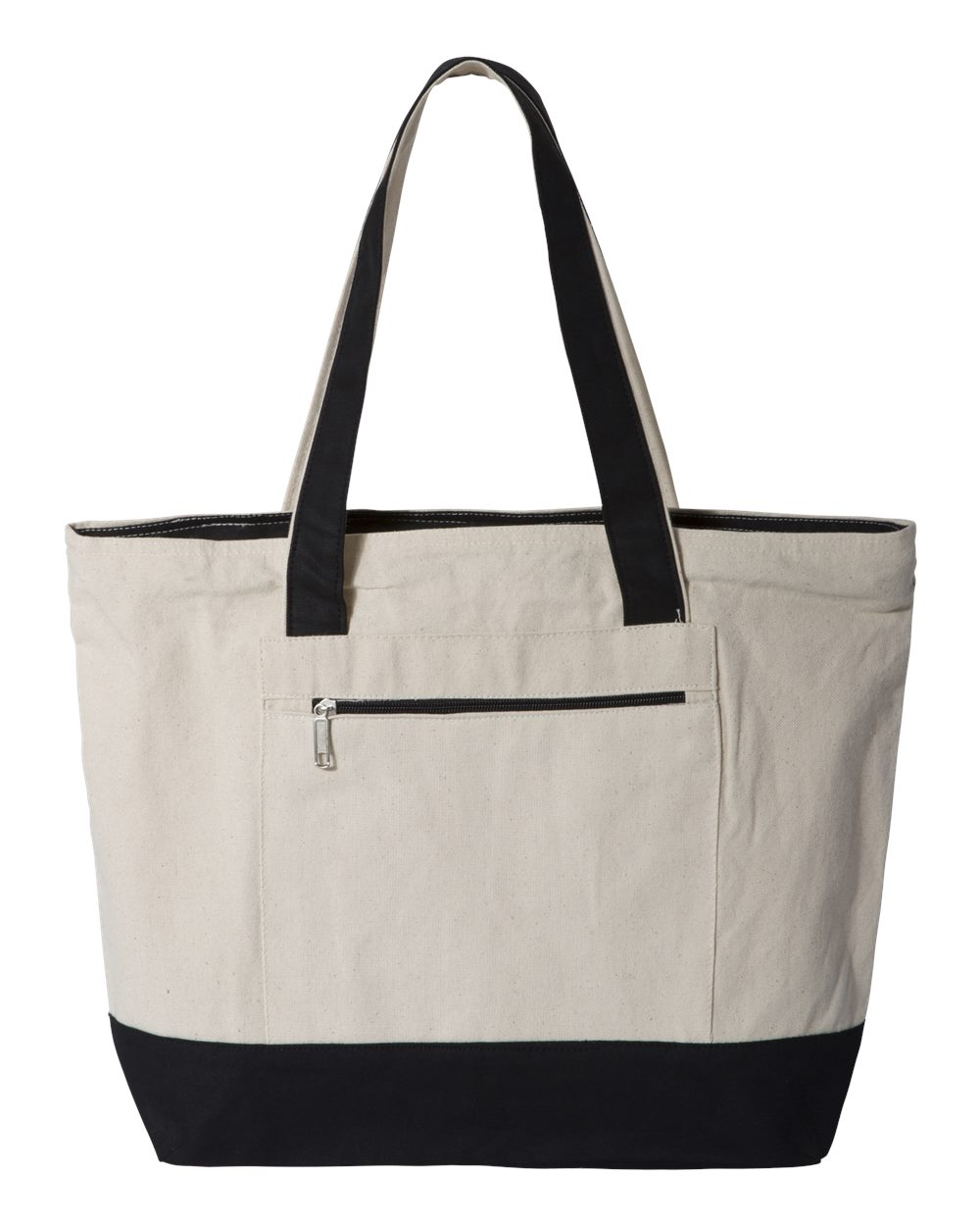 Q-Tees Q1300 - 18.6L Canvas Zipper Tote