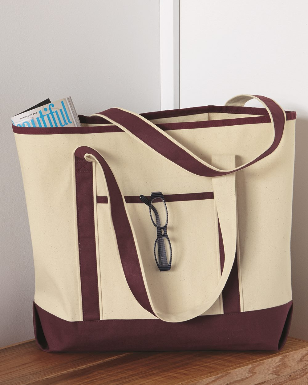 Q-Tees Q1500 - 34.6L Large Canvas Deluxe Tote