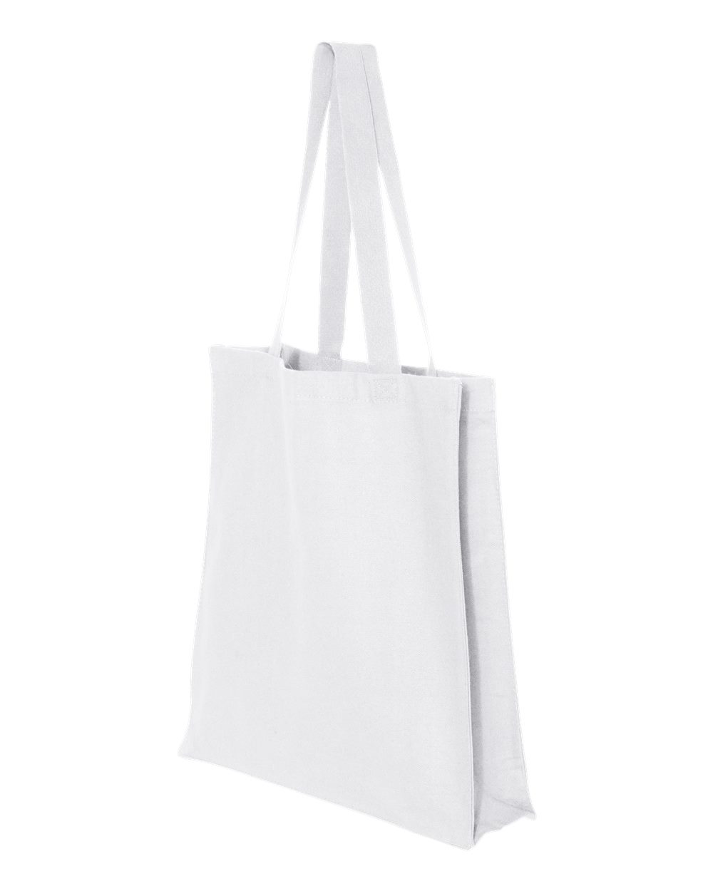 Q-Tees Q125300 - 13.7L Gusseted Canvas Shopper