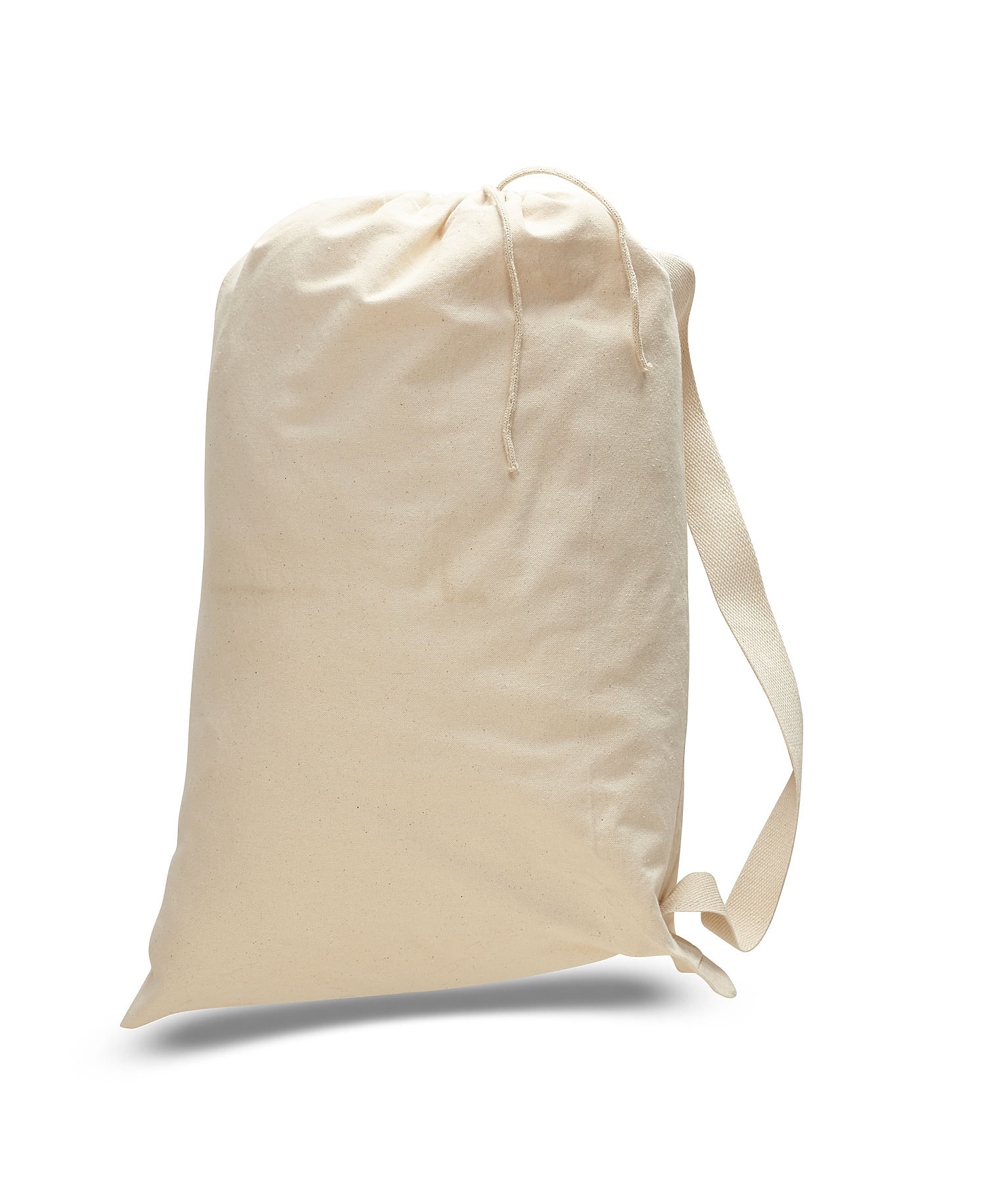Q-Tees QLB - Canvas Drawstring Bag