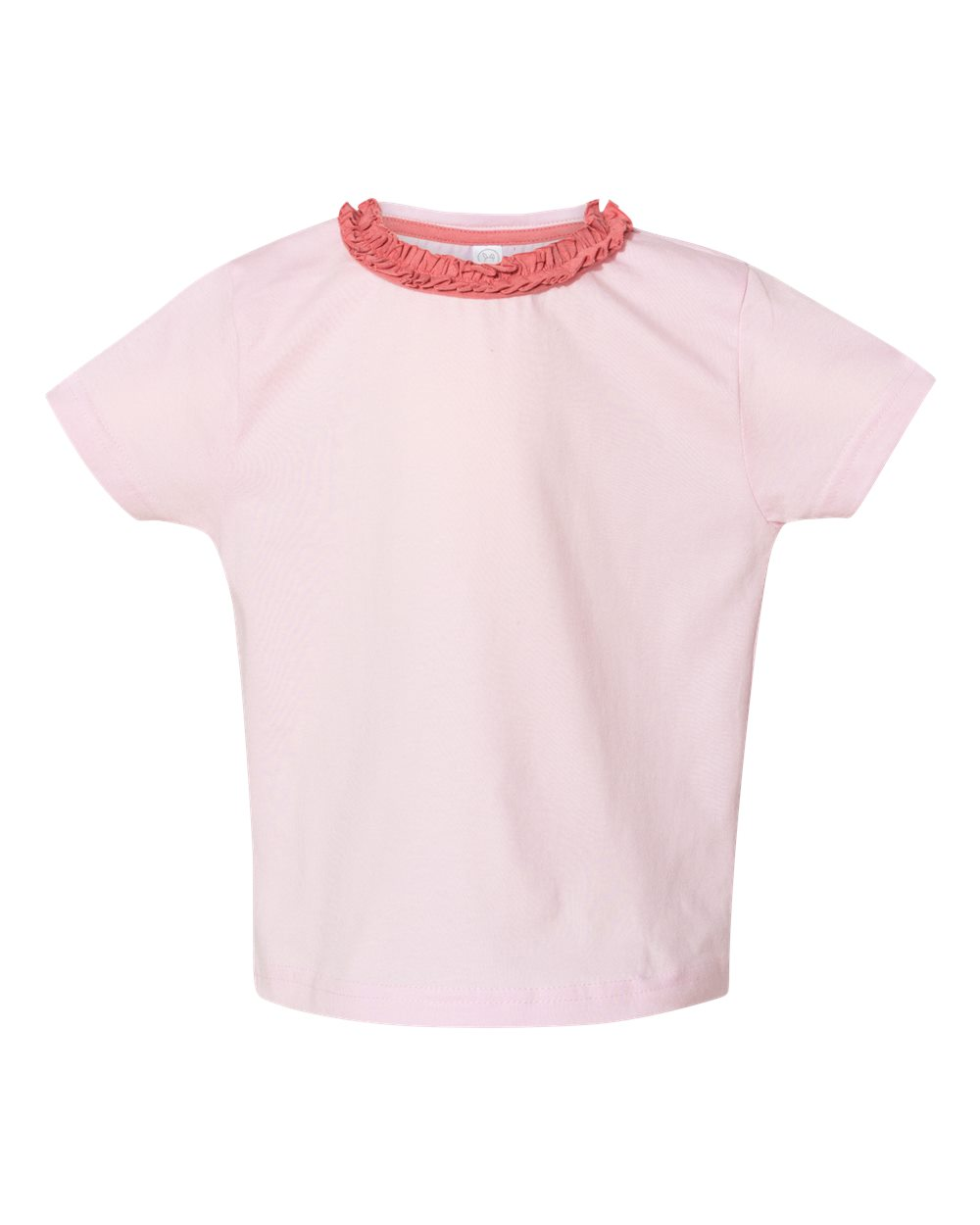 Rabbit Skins 3329 - Toddler Girls' Ruffle Neck Fine Jersey Tee
