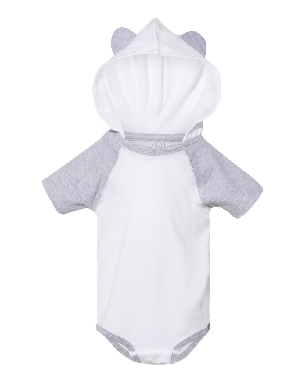 Rabbit Skins 4417 - Fine Jersey Infant Short Sleeve Raglan Bodysuit with Hood & Ears