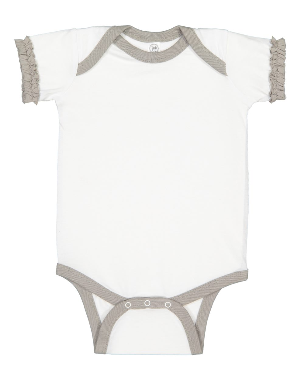 Rabbit Skins 4429 - Infant Ruffle Fine Jersey Bodysuit