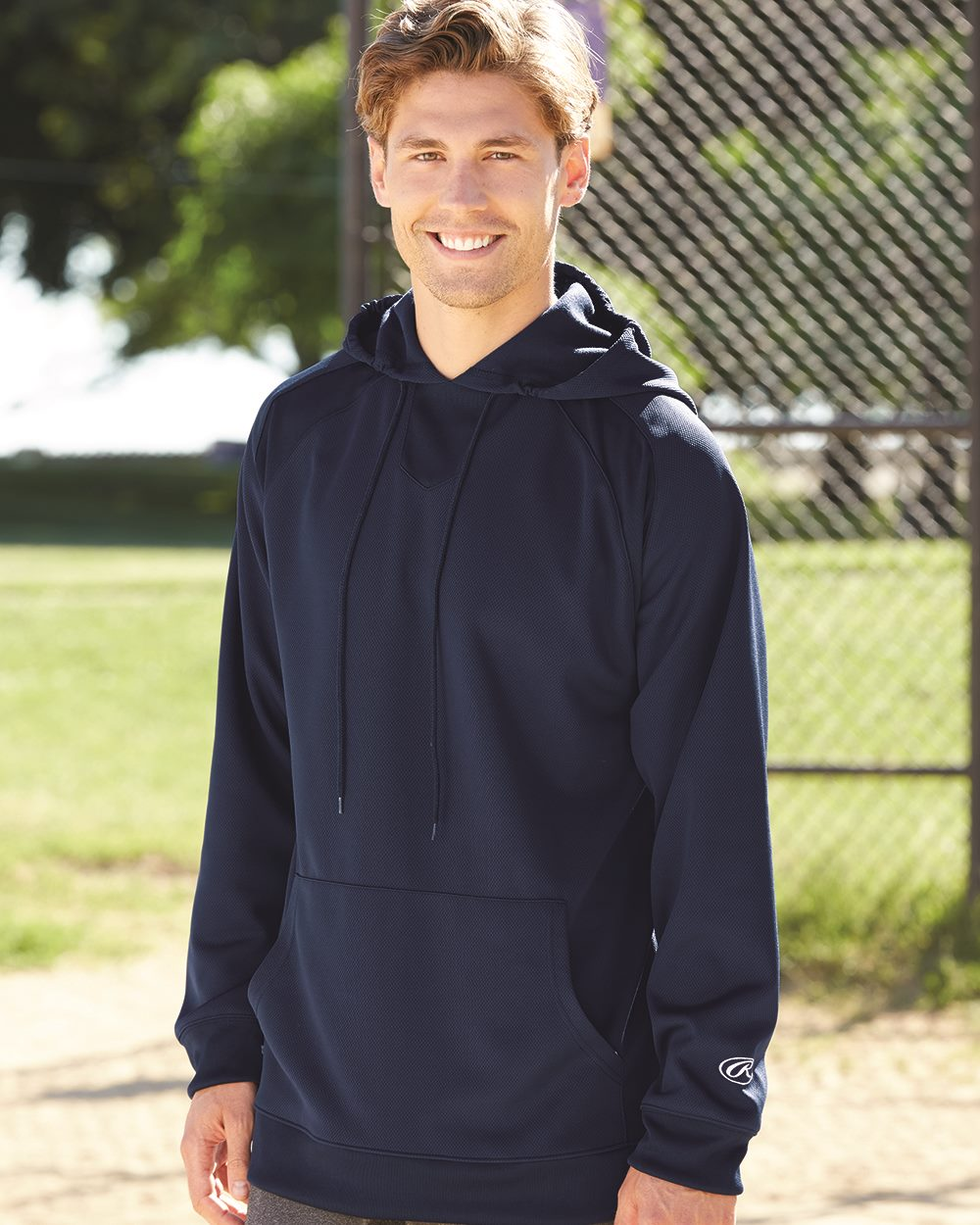 Rawlings 9709 - Mesh Fleece Hooded Sweatshirt