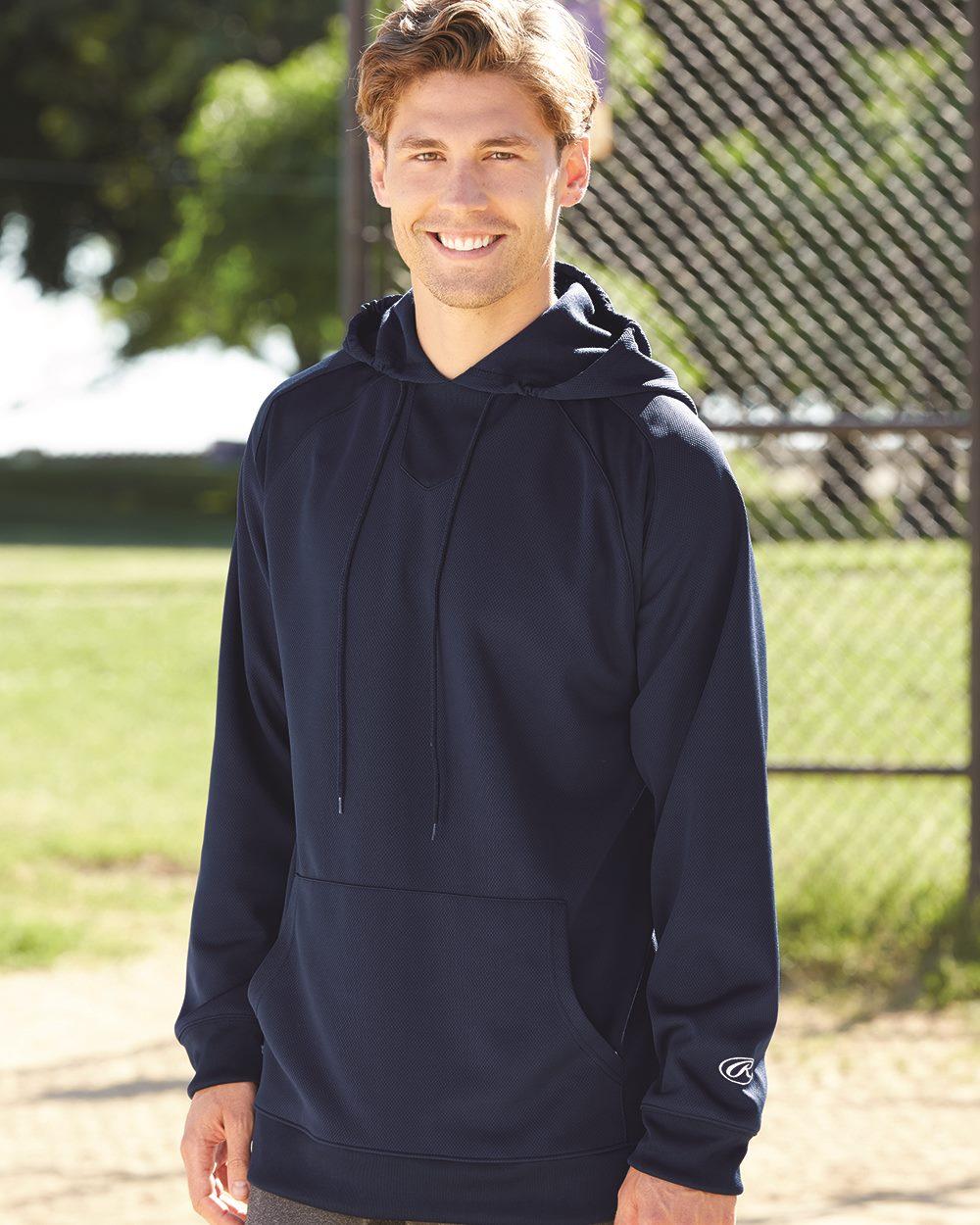 Rawlings 9709 - Mesh Fleece Hooded Sweatshirt