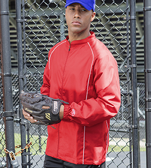 RAWLINGS RP9760 - ADULT FULL ZIP POLYESTER DOBBY JACKET