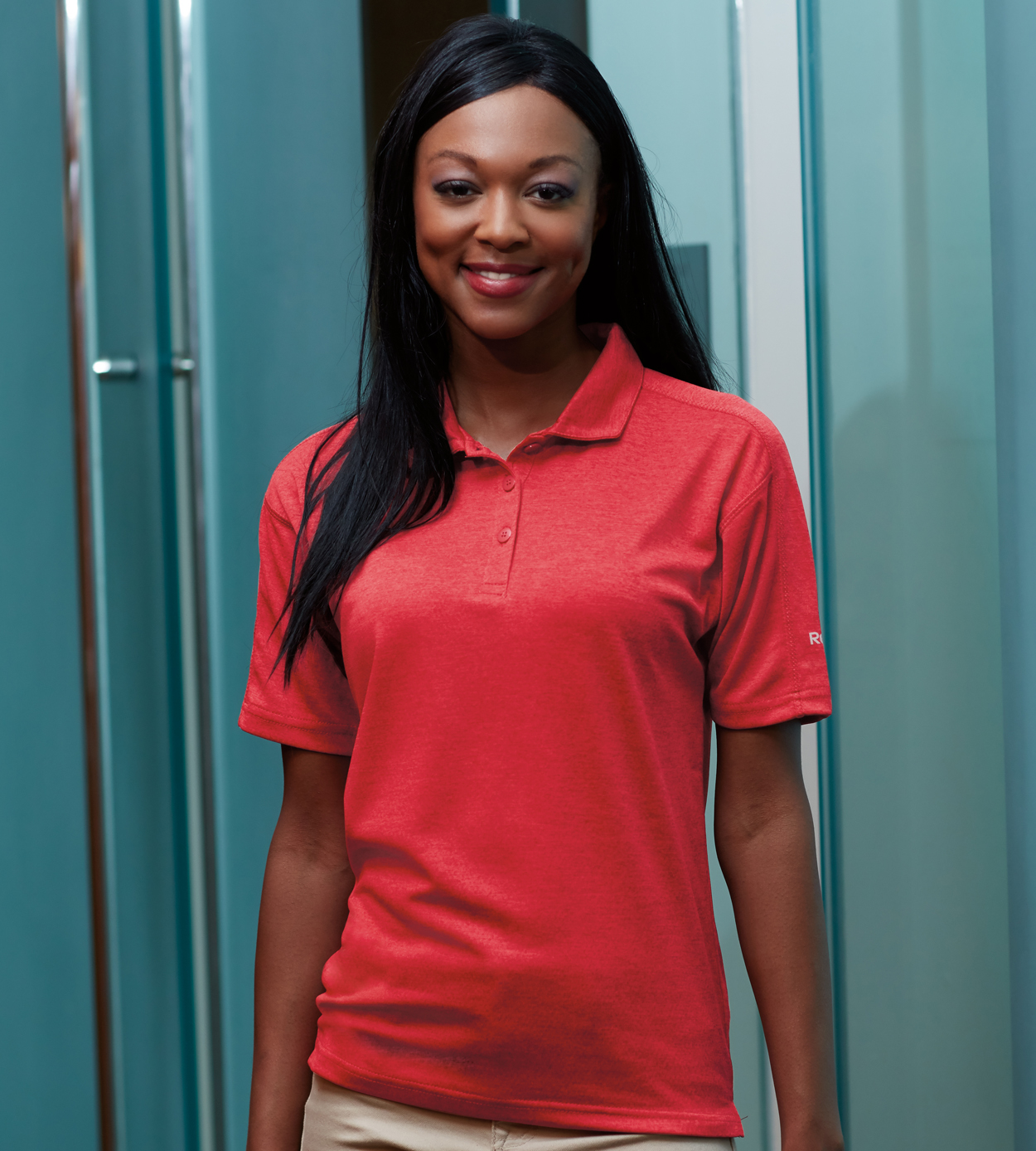 Reebok 7701 - Ladies' Plydry Tempo Heather Polo
