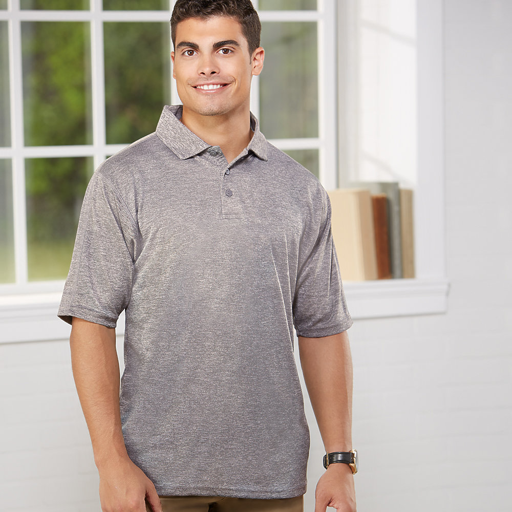 Reebok 7700R - Men's Playdry Tempo Heather Polo