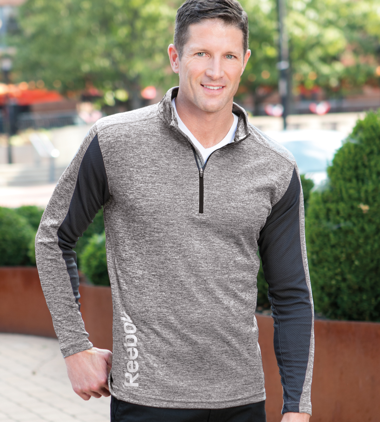 Reebok 7260 - Quarter Zip Lightweight Heather Pullover