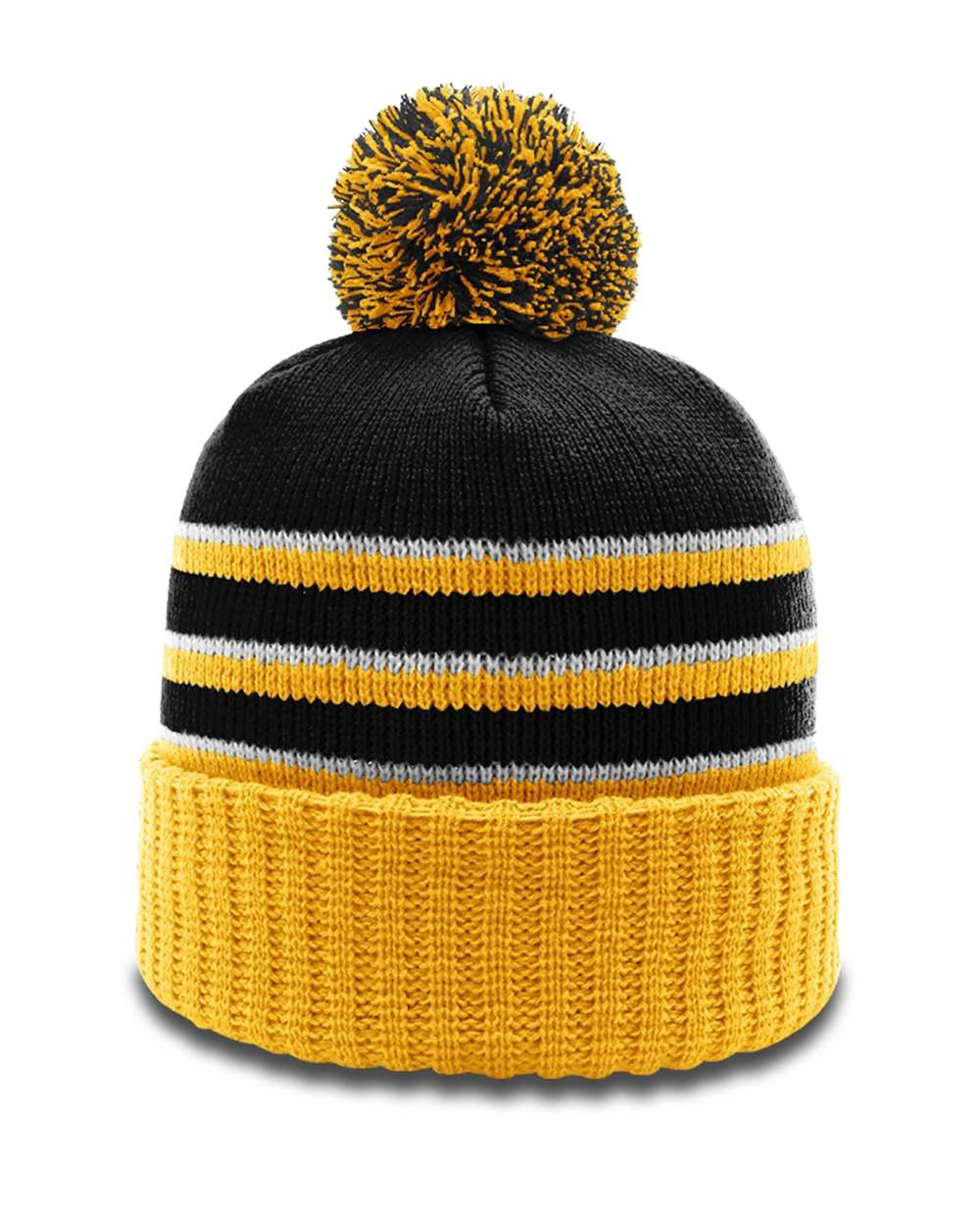 Richardson 134 - Stripe Pom Beanie With Cuff