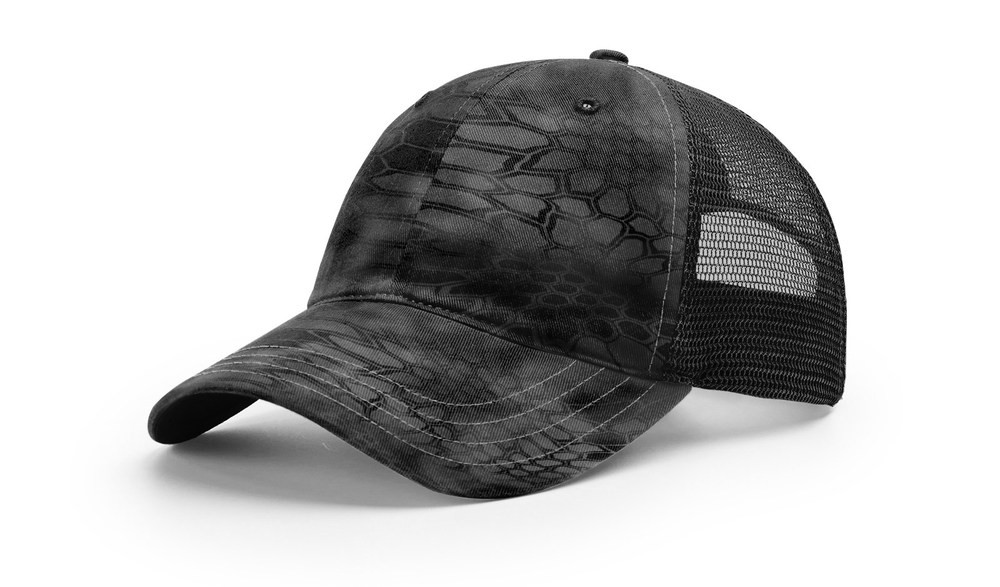 Richardson 111P - Camo Washed Trucker Cap
