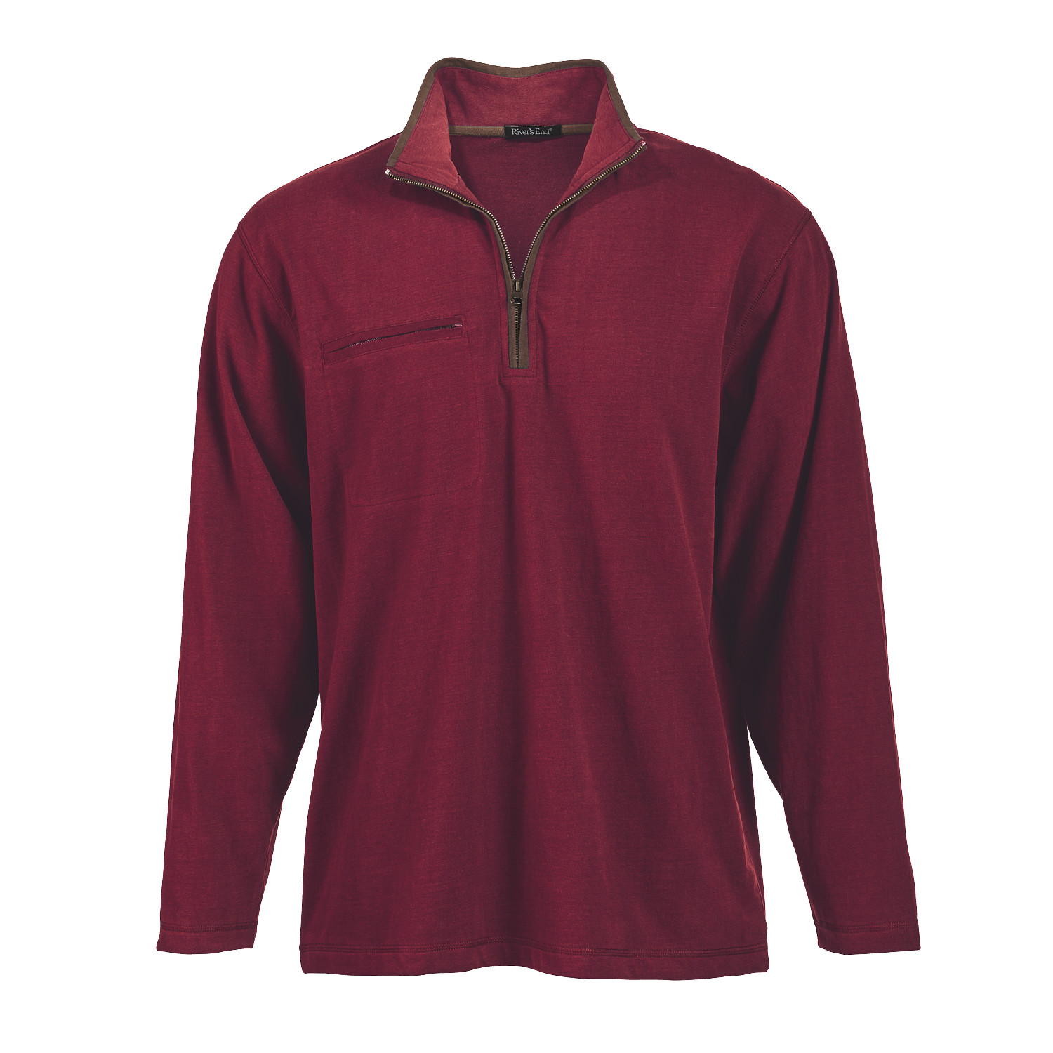 River's End 4060 - Men's 'Chamois' Long Sleeve Quarter-...