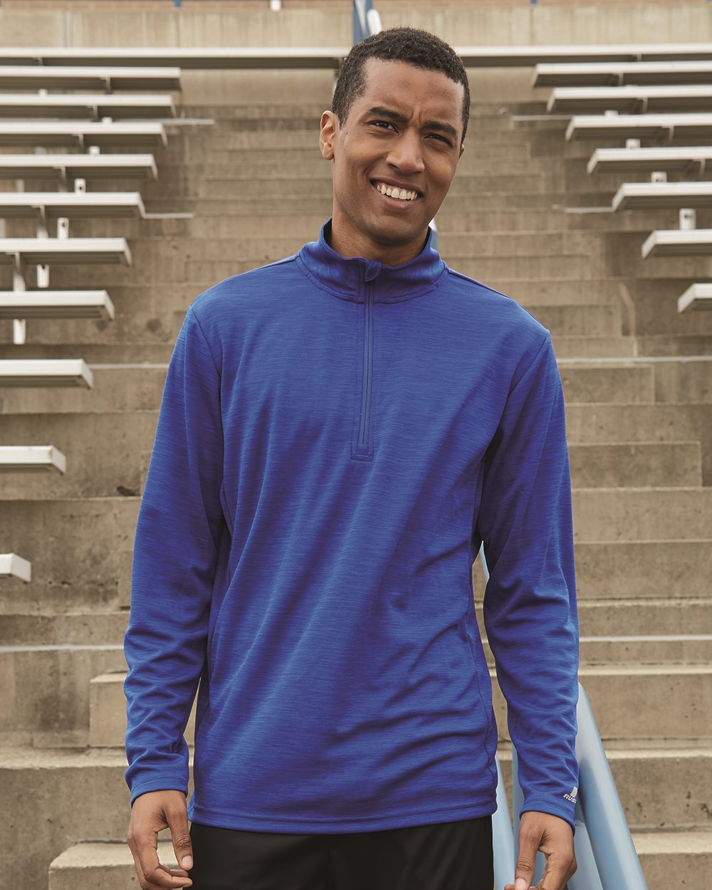 Russell Athletic QZ7EAM - Men's Striated Quarter-Zip Pullover