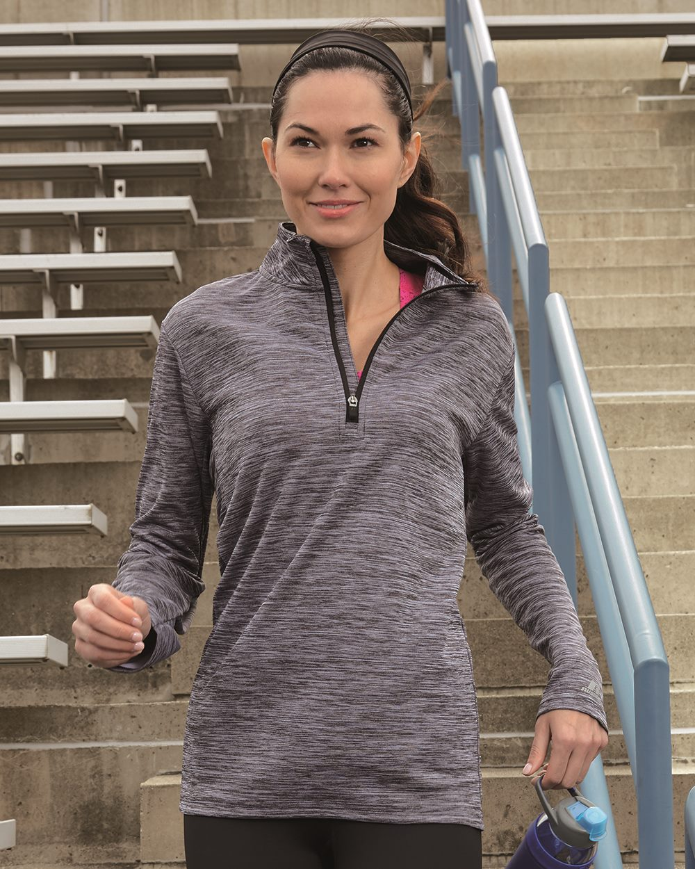 Russell Athletic QZ7EAX - Women's Striated Quarter-Zip Pullover