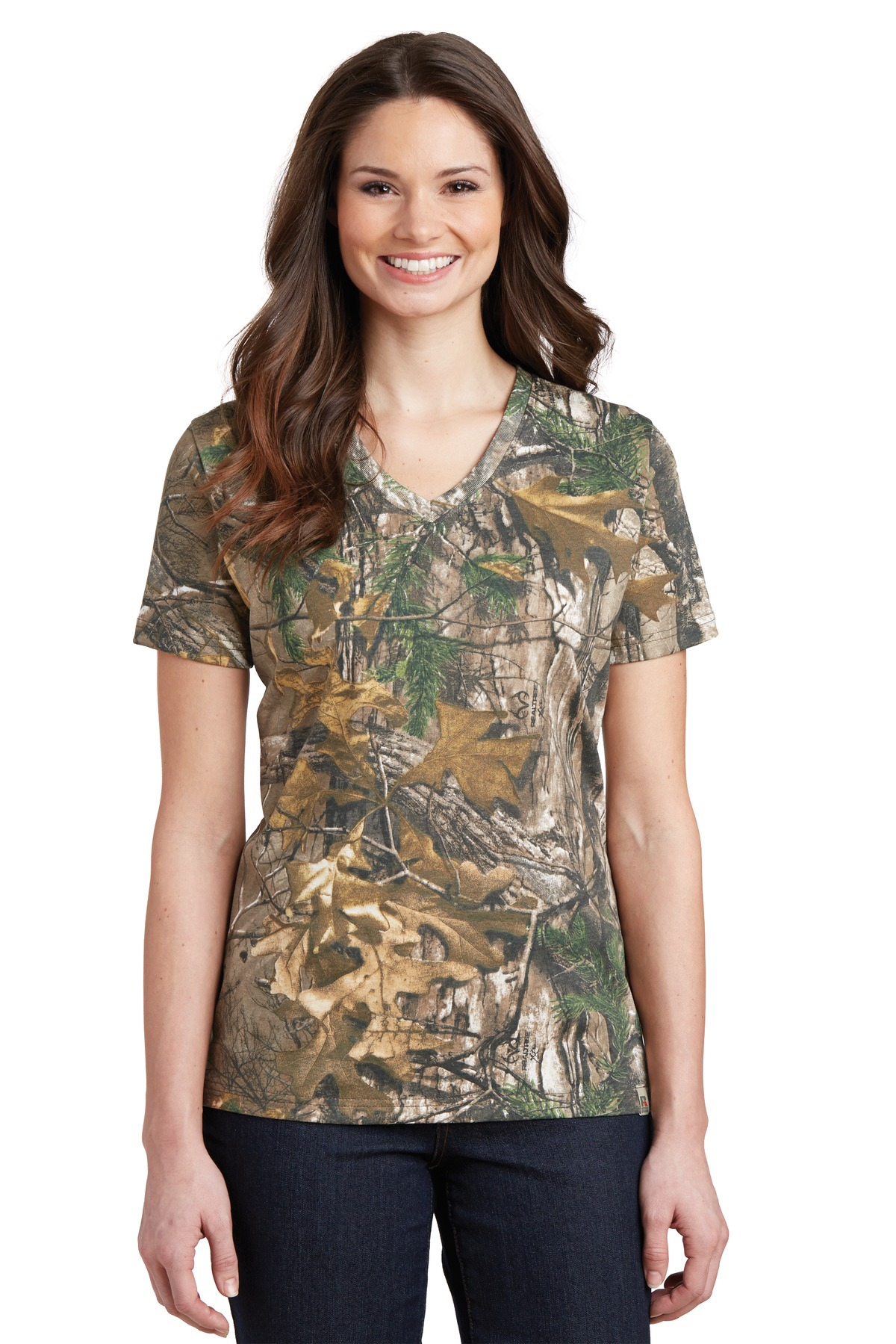 Russell Outdoors Realtree  LRO54V - Ladies 100% Cotton ...