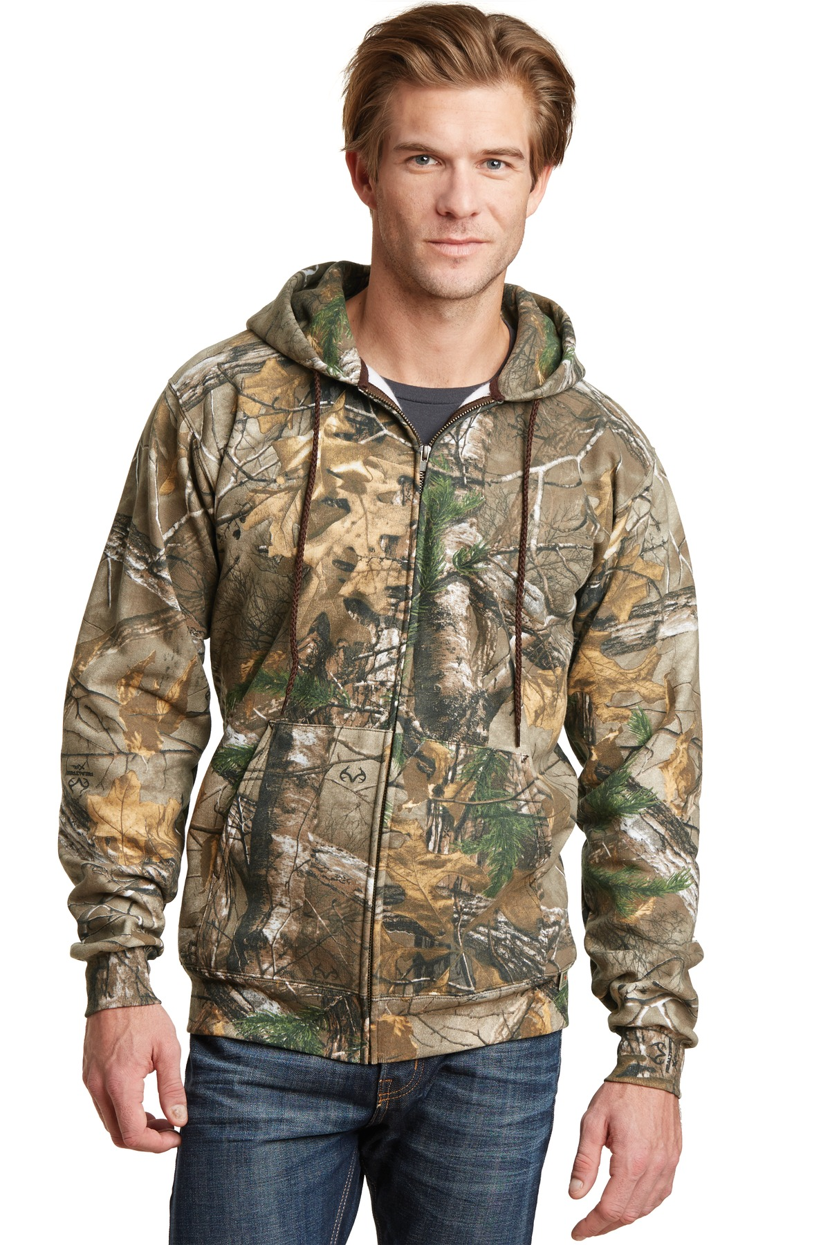 Russell Outdoors Realtree  RO78ZH - Full Zip Hooded ...