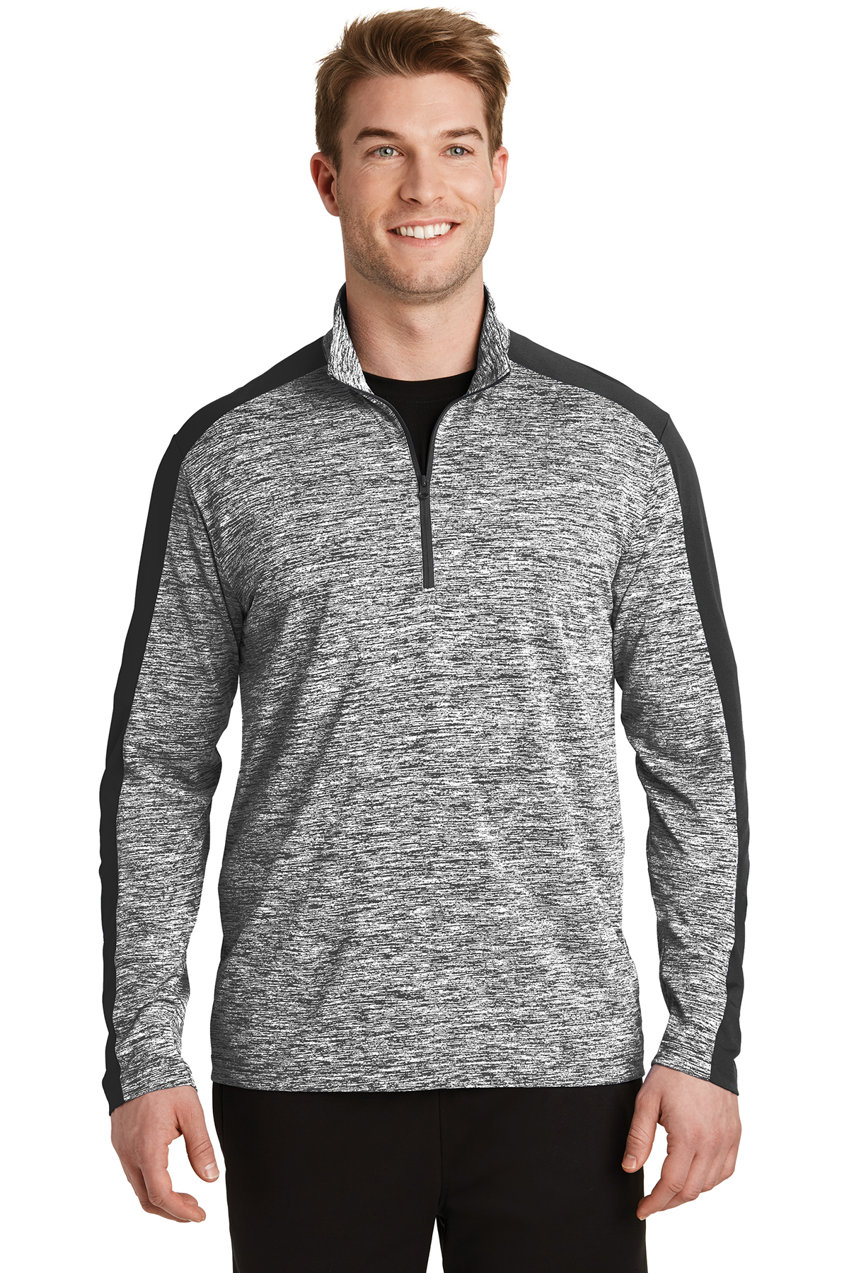 Sport-Tek® ST397 - Men's PosiCharge® Electric Heather Colorblock 1/4 Zip Pullover