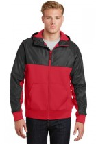Sport-Tek® JST50 - Embossed Hybrid Full-Zip Hooded Jacket
