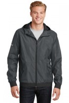 Sport-Tek® JST53 - Embossed Hooded Wind Jacket