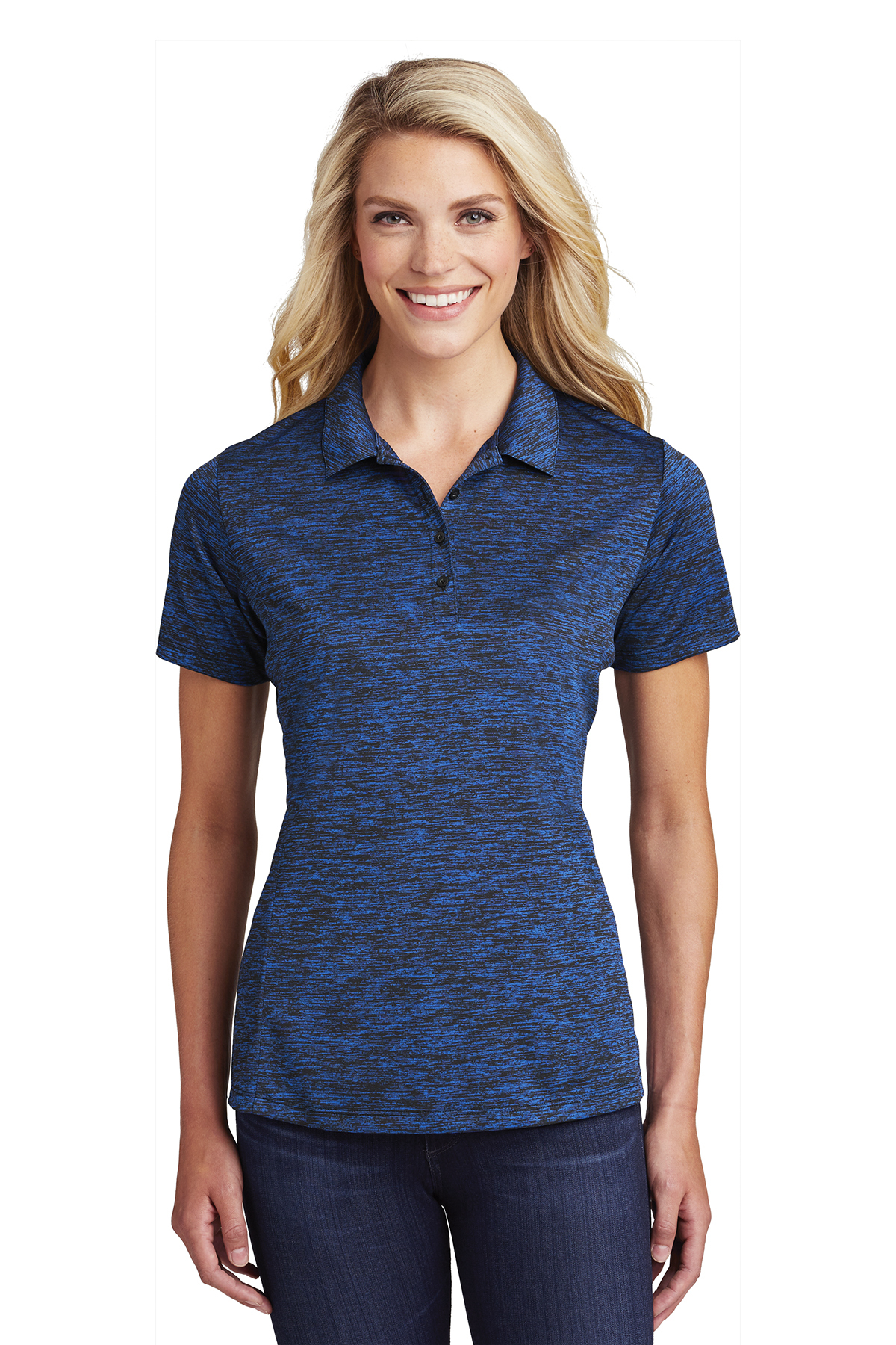 Sport-Tek LST590 - Ladies PosiCharge Electric Heather Polo