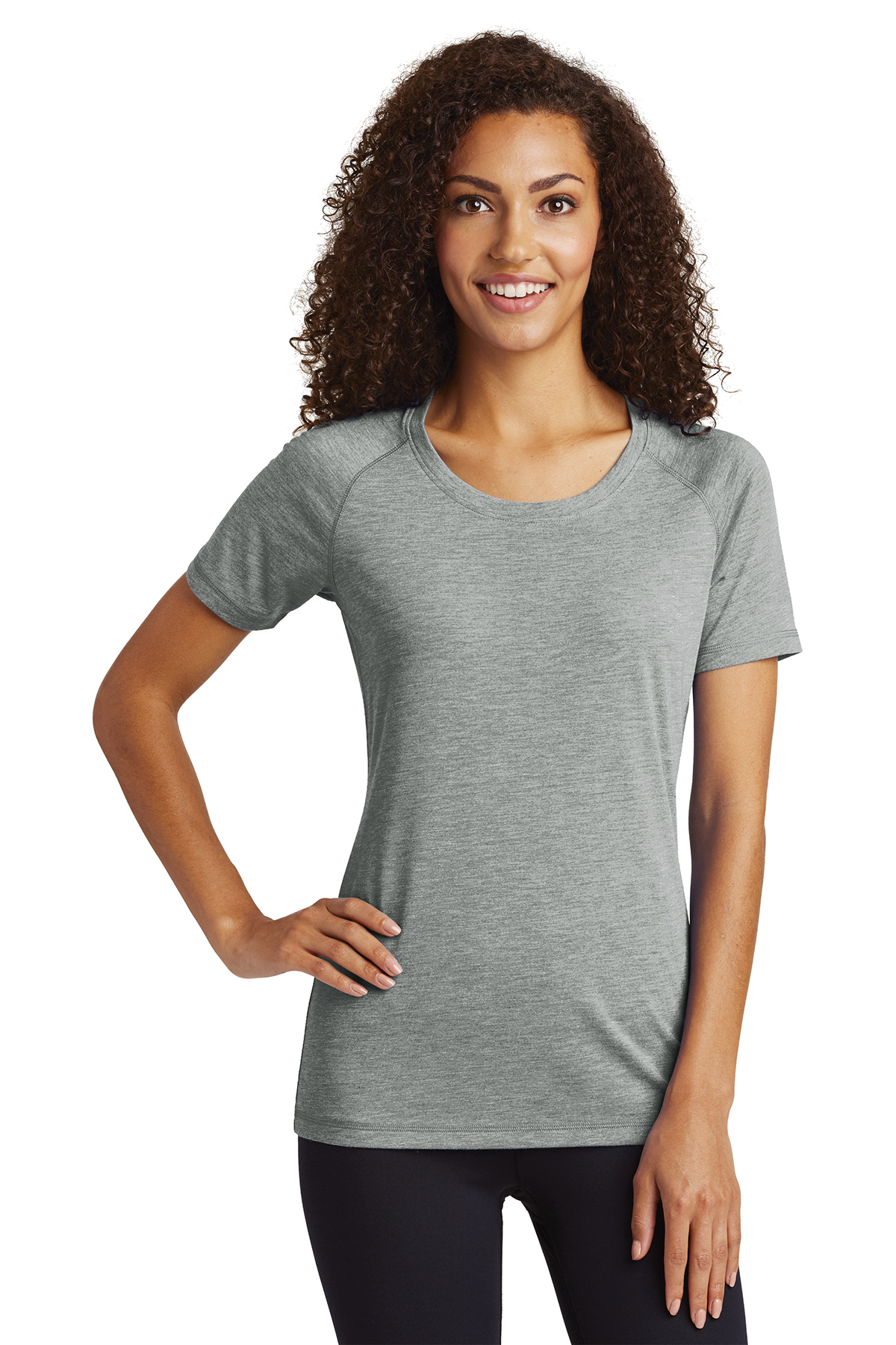 Sport-Tek LST400 - Ladies PosiCharge Tri-Blend Wicking ...