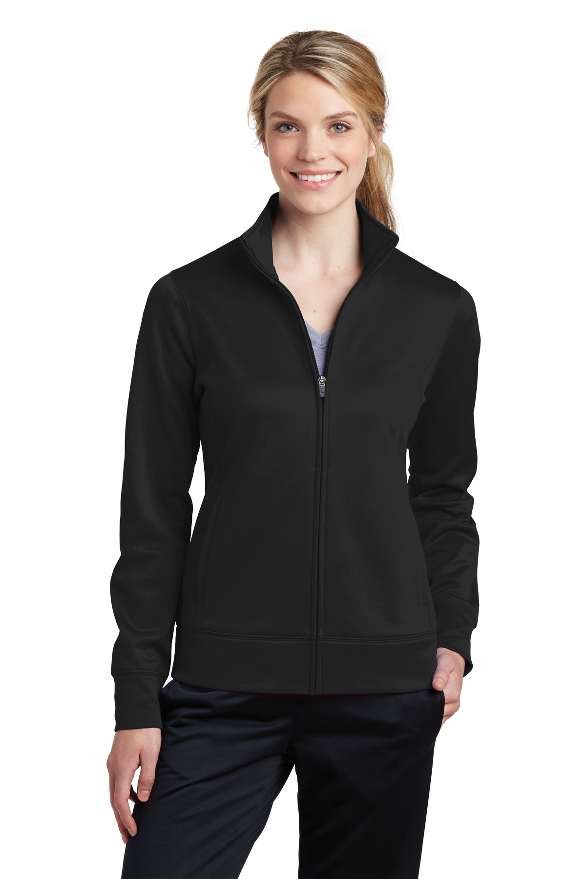 Sport-Tek  Ladies Sport-Wick  LST241 - Fleece Full-Zip ...