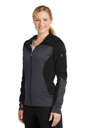 Sport-Tek® LST245-Ladies Tech Fleece Colorblock ...