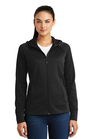 Sport-Tek LST295 - Ladies Rival Tech Fleece Full-Zip Hooded Jacket