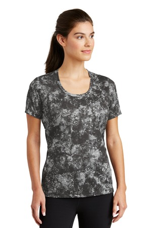 Sport-Tek LST330 - Ladies Mineral Freeze Scoop Neck Tee