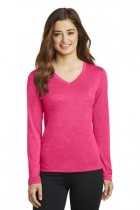 Sport-Tek® LST360LS - Ladies Long Sleeve Heather Contender® V-Neck Tee