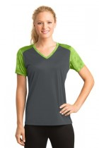 Sport-Tek® LST371 - Ladies CamoHex Colorblock V-...
