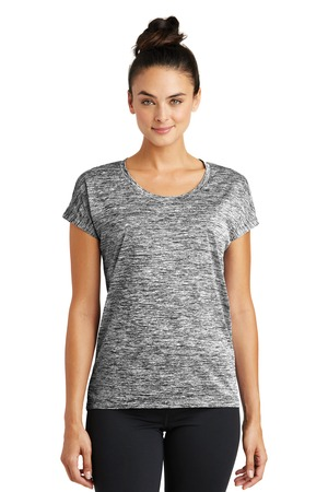 Sport-Tek LST390 - Ladies PosiCharge Electric Heather Sporty Tee