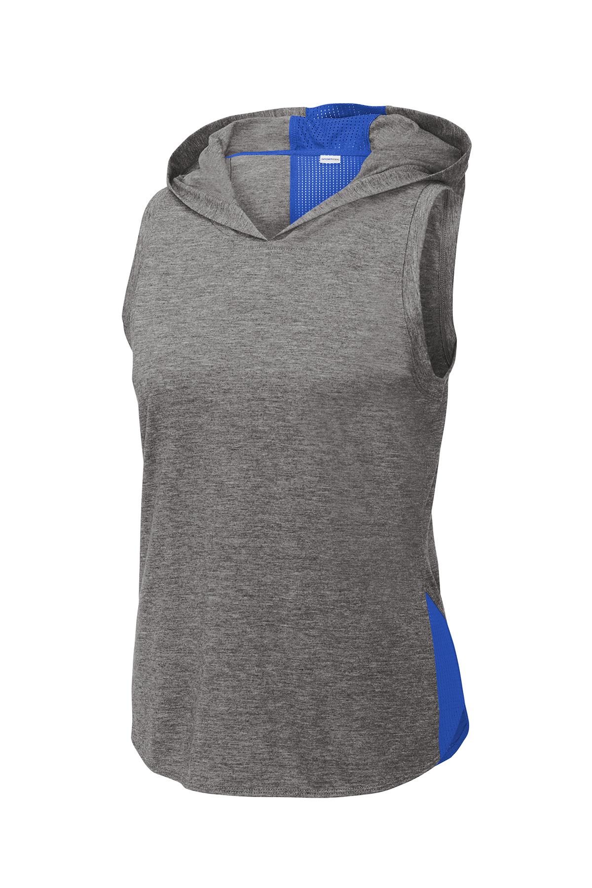 Sport-Tek ® LST410 - Ladies PosiCharge ® Tri-Blend Wicking Draft Hoodie Tank